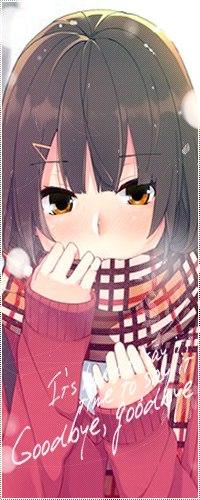 Аватар вконтакте Замершая аниме девочка с шарфом
