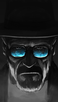 99px.ru аватар Арт на Волтера Вайта / Walter White, чью роль исполняет актер Bryan Cranston / Брайан Крэнстон, герой сериала Breaking Bad / Во все тяжкие, в очках