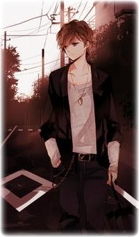 Аватар вконтакте Парень шатен одетый в черный пиджак, белую кофту ...