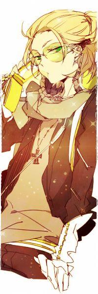 Аватар вконтакте Аниме парень с телефоном в руках