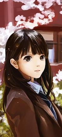 Аватар вконтакте Девушка - брюнетка смотрит на вас, арт от Hanyijie