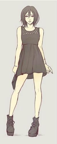 Аватар вконтакте Микаса Акерман / Mikasa Ackerman из аниме Вторжение гигантов / Shingeki no Kyojin