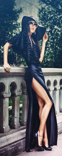 Платье боком