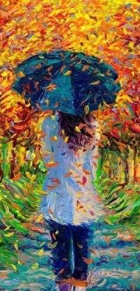 Девушка осень картинки со спины нарисованные, открытка днем татьяны