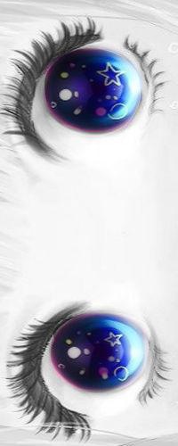 Аватар вконтакте Анимешная девушка с синими глазами плачет