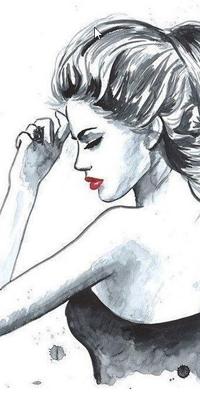 Аватар вконтакте Девушка с красной помадой на губах