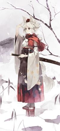 Аватар вконтакте Inubashiri Momiji / Инабушири Момидзи из игры Tohou Project / Проект Восток
