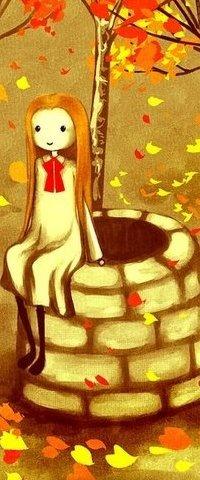 Аватар вконтакте Девочка сидит на колодце