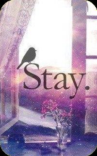 99px.ru аватар Птица сидит на слове Stay / Останься