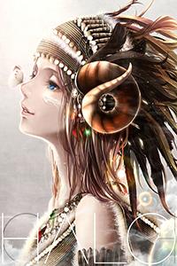 Аватар вконтакте Девушка в красивом головном уборе с бабочкой на носу (НЛLO)