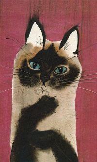 Аватар вконтакте Нарисованный голубоглазый котенок