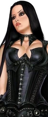 Аватар вконтакте Девушка в черном корсете