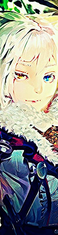 Аватар вконтакте Аниме девушка с короткими волосами и разноцветными глазами в доспехах