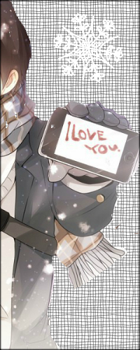 Аватар вконтакте Парень держит в руке сенсорный телефон с надписью (I love you / Я люблю тебя)