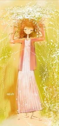 Аватар вконтакте Рыжеволосая девушка с венком из цветов на голове, by asuh
