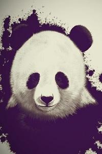 99px.ru аватар Изображение панды на черно-белом фоне