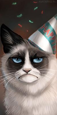 Грустный кот ава