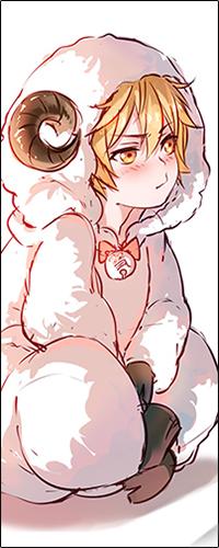 Аватар вконтакте Юкине / Yukine из аниме Бездомный бог / Noragami в костюме барашка