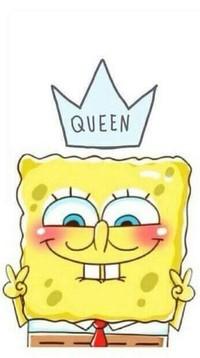 99px.ru аватар Sponge Bob / Спанч Боб из мультфильма SpongeBob SquarePants / Губка Боб Квадратные Штаны с короной (Queen / Королева)