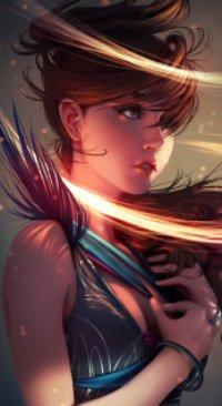 Аватар вконтакте Девушка в лучах света, art Jonathan Hamilton