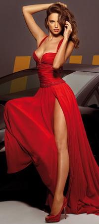 Вконтакте девушки в красном платье