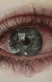 глаза грустные рисунок