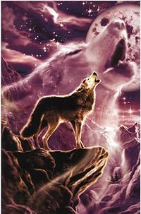 Аватар вконтакте Ночью волк воет на луну