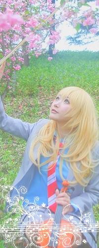 Аватар вконтакте Косплей Мiyazono Кaori / Каори Миядзоно из аниме Shigatsu wa Kimi no Uso / Твоя апрельская ложь