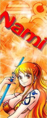 Аватар вконтакте Нами / Nami с татуировкой держит в руках оружие, улыбается из аниме Ван пис / One Piece