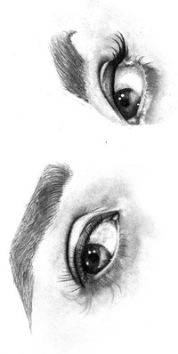 глаза рисунок разный ракурс