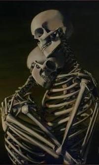 Аватар вконтакте Два скелета стоят обнявшись