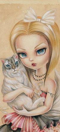 99px.ru аватар Девушка с котом на руках