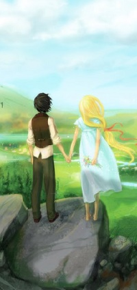 Аватар вконтакте Парень с девушкой стоят на фоне природы