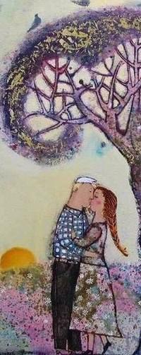 Аватар вконтакте Влюбленные стоят под деревом