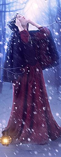Аватар вконтакте Девушка стоит под падающим снегом
