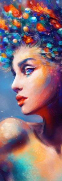 Аватар вконтакте Девушка с цветными волосами, art Kanamm