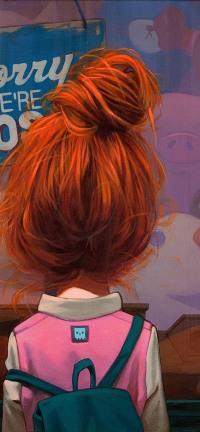 Фото на аву девушек с красными волосами 35