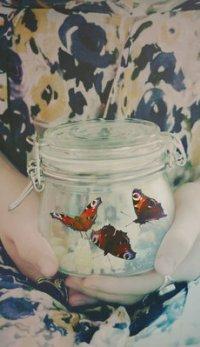 Аватар вконтакте В руках девушки баночка с бабочками, by uglybug