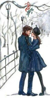 Чб картинки мужчина и женщина зимой