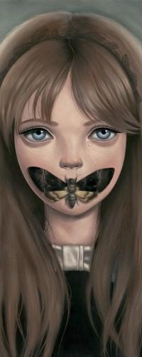 Аватар вконтакте Девочка с бабочкой на губах, художница Ана Багаян