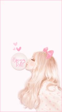 99px.ru аватар Девушка надувает пузырь из жевательной резинки (Happy day)