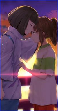 99px.ru аватар Тихиро / Chihiro и Хаку / Haku из аниме Унесенные Призраками / Spirited Away