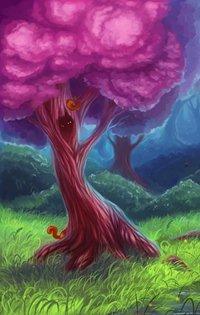 Аватар вконтакте Деревья с красивыми розовыми кронами