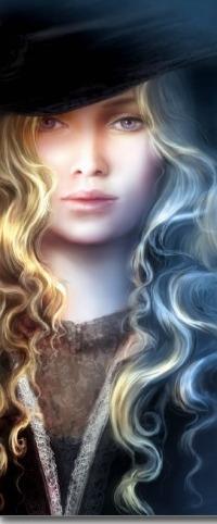 Аватар вконтакте Белокурая девушка в шляпе, арт Sonia Verdu