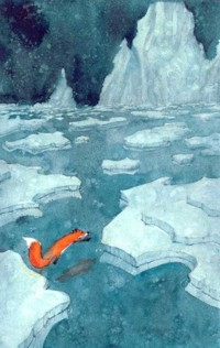 Аватар вконтакте Лиса перепрыгивает с льдины на льдину, by Lee White