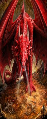 Аватар вконтакте Красный среди скелетов