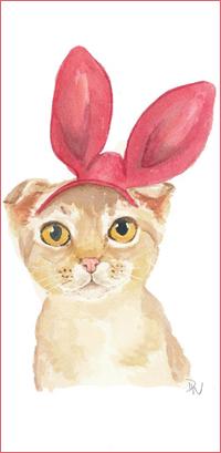 Аватар вконтакте Кошка в ободочке с кроличьими ушками