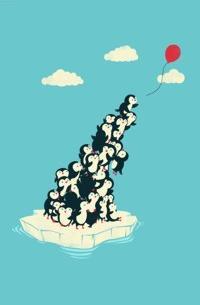 Аватар вконтакте Пингвины на льдине ловят возушный шарик, by Jay Fleck