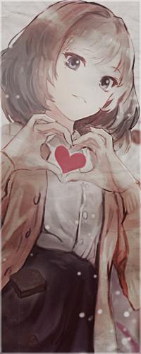 Аватар вконтакте Девушка держит сердечко