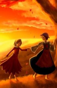 Аватар вконтакте Две девочки на фоне облачного неба